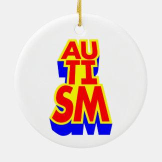 Autismus Keramik Ornament