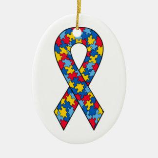 Autismus-Puzzlespiel-Bandverzierung Keramik Ornament