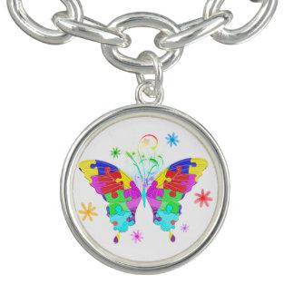Autismus-Schmetterling Charm Armbänder