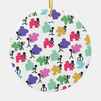 autistische Leute Keramik Ornament