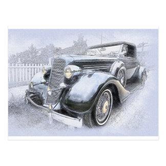 Auto-alte Auto-Vintage Autos Postkarte
