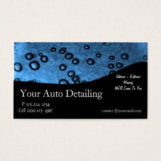 Auto-ausführliche Schilderung Visitenkarten
