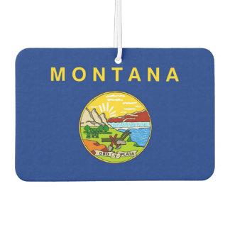 Auto-Lufterfrischer mit Flagge von Montana, USA Autolufterfrischer