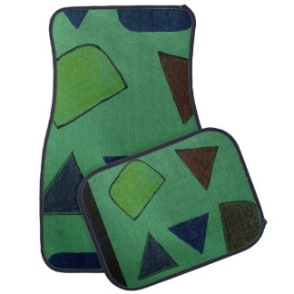 Auto-Matten, die mit sonderbaren Formen grün sind Automatte