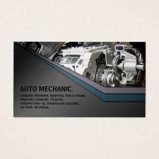 Auto-Mechaniker-Service-Metallgeschäfts-Karte Visitenkarte