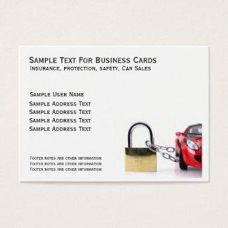 Auto mit Vorhängeschloß Visitenkarte