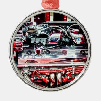 Auto-Motor Silbernes Ornament