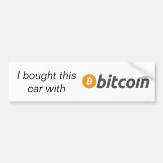 Autoaufkleber - ich kaufte dieses Auto mit Bitcoin