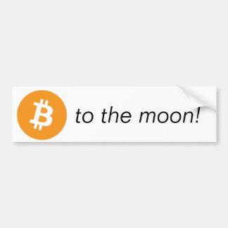 Autoaufkleber - zum Mond!