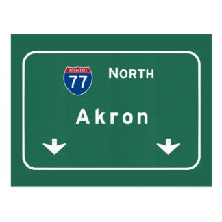 Autobahn-Autobahn Akrons Ohio oh: Postkarte
