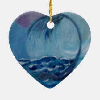 automic Welle Keramik Herz-Ornament