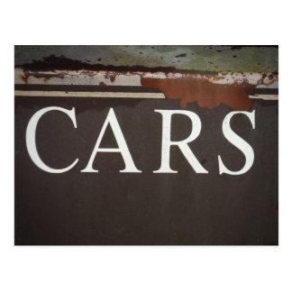 AUTOS Schleppseil-LKW-Vintages Auto-Zeichen Postkarten