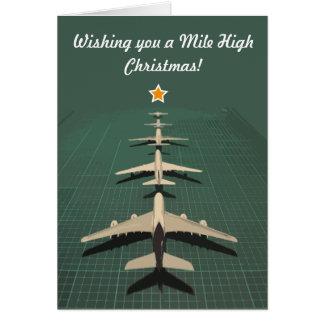 Avgeek Meilen-hohes Weihnachten Grußkarte
