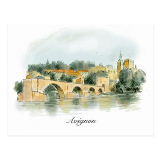 Avignon-Postkarte Postkarten