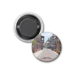 Aviles-Straße St Augustine Florida Runder Magnet 2,5 Cm