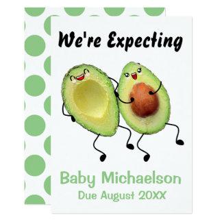 Avocado-Paar-Schwangerschafts-Mitteilung Karte