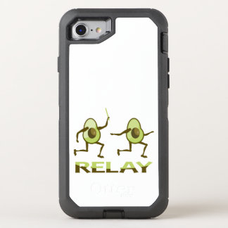Avocado-Relais-Rennen-Cartoon OtterBox Defender iPhone 8/7 Hülle