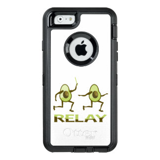 Avocado-Relais-Rennen-Cartoon OtterBox iPhone 6/6s Hülle