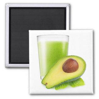 Avocado Smoothie Quadratischer Magnet