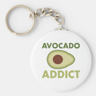 Avocado-Süchtiger Schlüsselanhänger