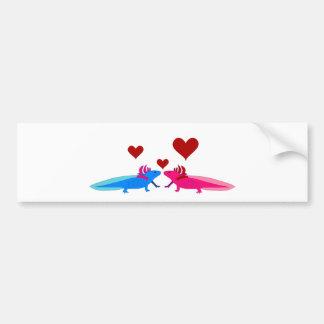 Axolotl in Love Autoaufkleber