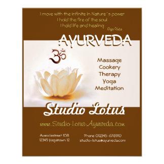 Ayurveda Yoga publicitie Flyer Lotos mit OM
