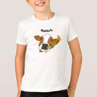 AZ-, lustiges Kuh-und Trompete-Shirt T-Shirt