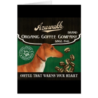 Azawakh - Organic Coffee Company Karte