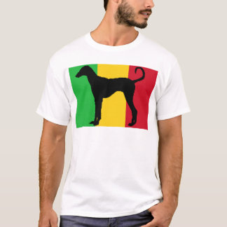 azawakh Silhouetteflagge T-Shirt