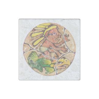 Aztekische Gottfarbe - fantastischer Mexiko-Magnet Stein-Magnet