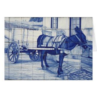 Azulejo Wandgemälde Grußkarte