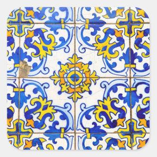 Azulejos Keramikfliesen Quadratischer Aufkleber