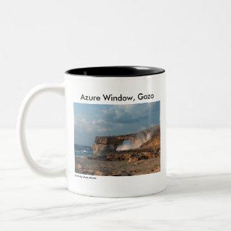 Azurblaues Fenster, Gozo Zweifarbige Tasse