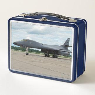B-1B Lancer-Bomber auf dem Boden Metall Lunch Box