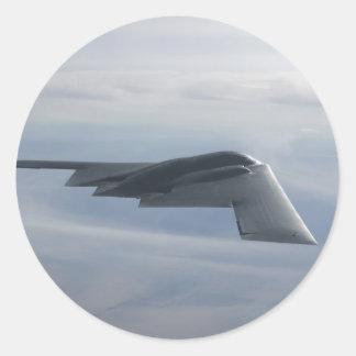 B-2 Geist - Heimlichkeits-Bomber Runder Sticker