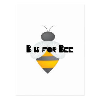 B für Biene Postkarte