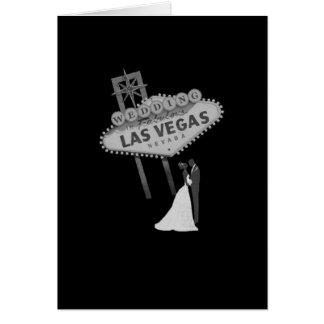 B&G Hochzeit in fabelhafter Las Vegas-Karte Retro Grußkarte