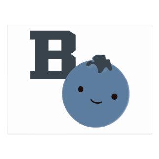 B ist für Blaubeere Postkarte