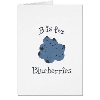 B ist für Blaubeeren Mitteilungskarte