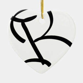 B KERAMIK Herz-Ornament