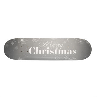 B&W frohe Weihnachten und guten Rutsch ins Neue Skateboardbrett