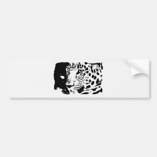 B&W Leopard-Augen Autoaufkleber