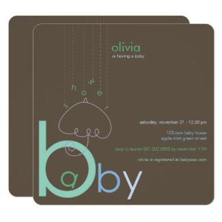 """Baby """"a"""" b-Jungen-in der blauen niedlichen Karte"""