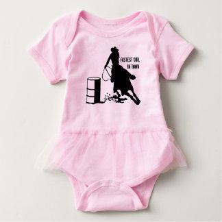 Baby-Ballettröckchen-Cowgirl-Fass-Rennläufer Baby Strampler