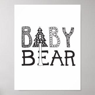 Baby-Bär - Kinderzimmer-oder Poster