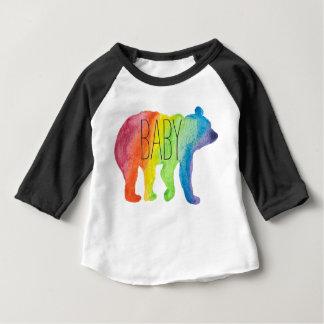 Baby-Bärn-Familien-Stolz-Aquarellraglan-T-Stück Baby T-shirt