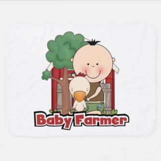 Baby-Bauer mit Ente Babydecke