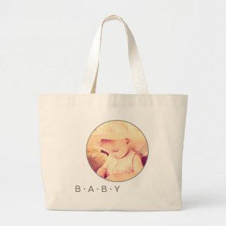 Baby-Bild-Gewohnheit rund Jumbo Stoffbeutel
