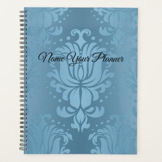 Baby-Blau-Blumendamast Plannet Planer