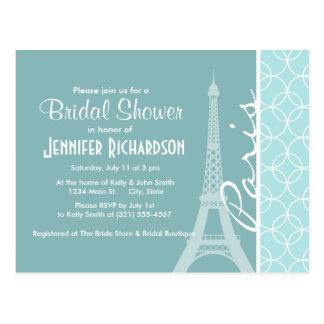Baby-Blau-Eiffelturm; Paris Postkarte